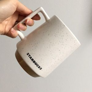 Starbucks Speckled Ceramic & Bamboo Coffee Mug